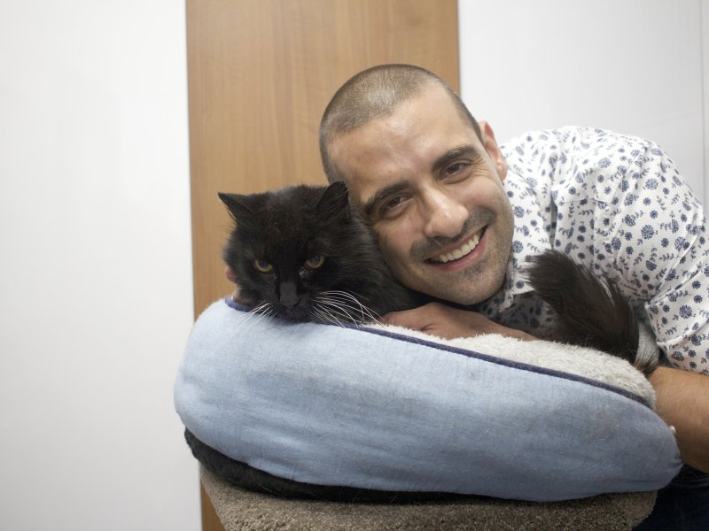 Dr Anthony Cassimatis and cat