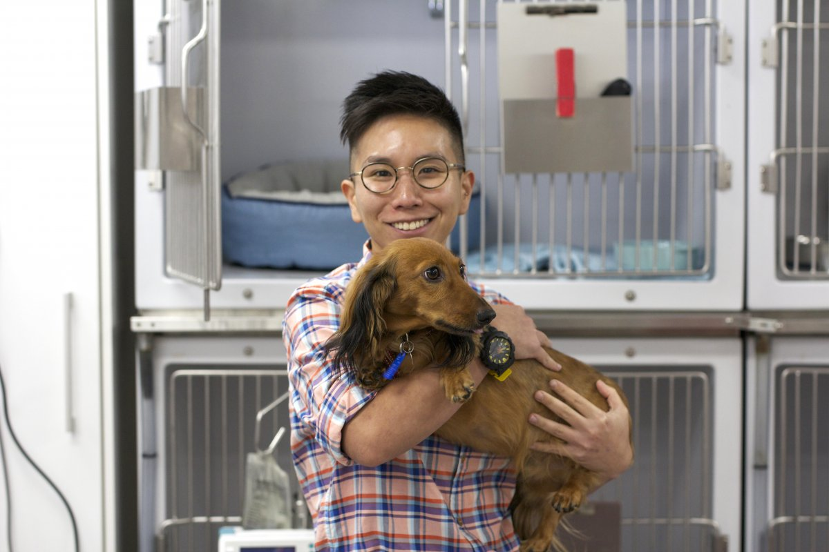 Dr Marian Leow and Dog
